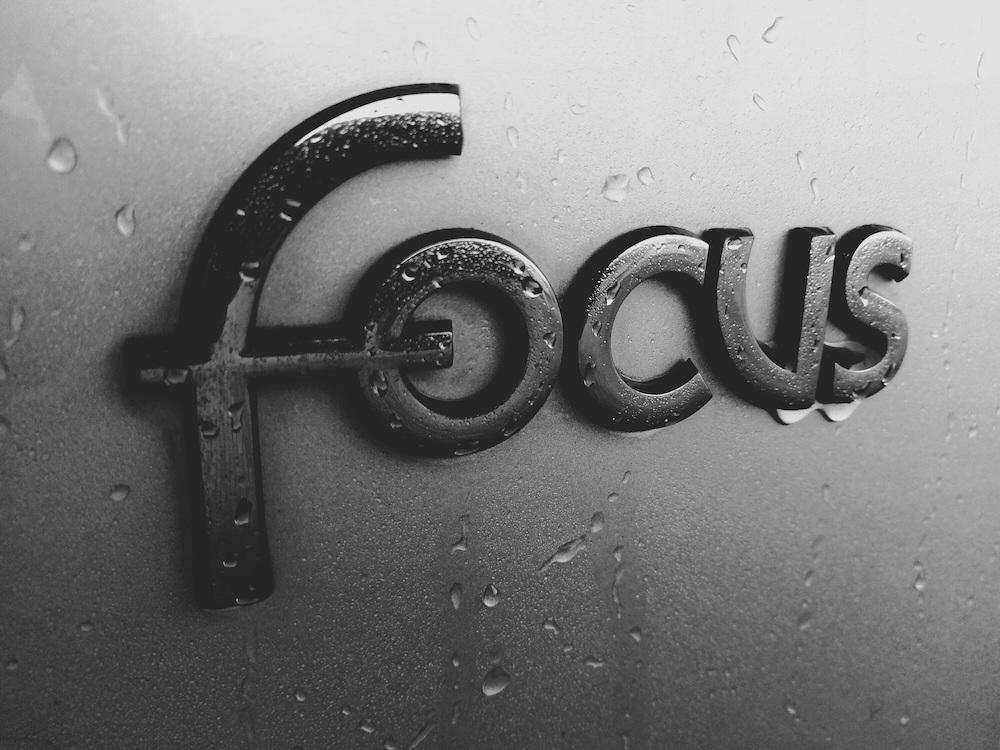 Of je hebt focus, of je bent afgeleid