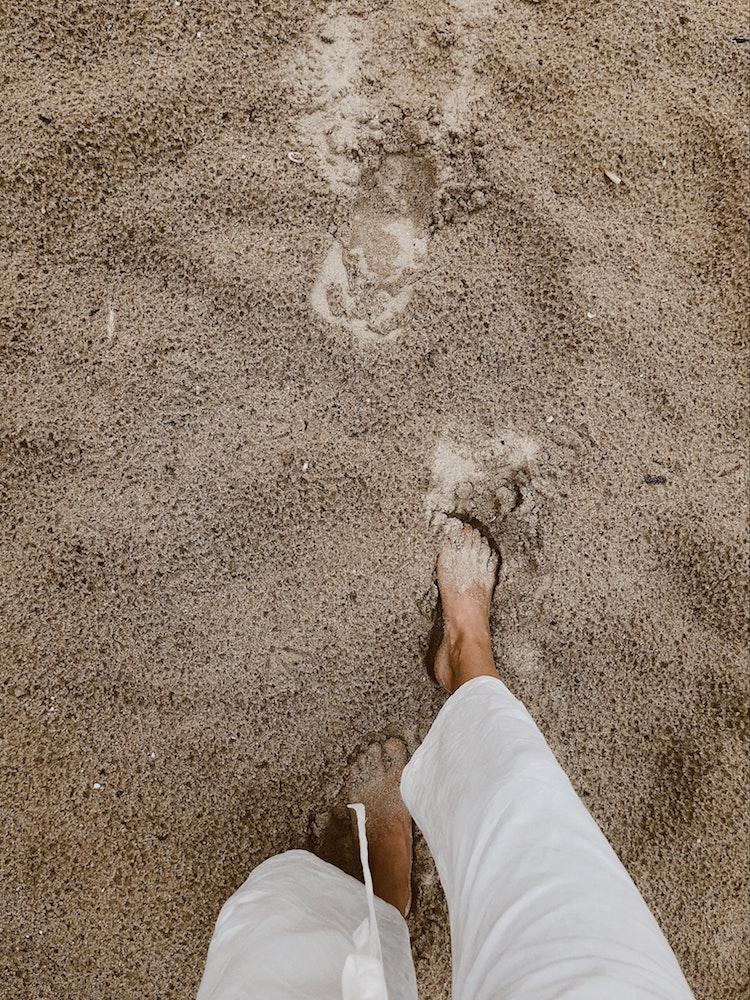 Wat een genot, op blote voeten lopen