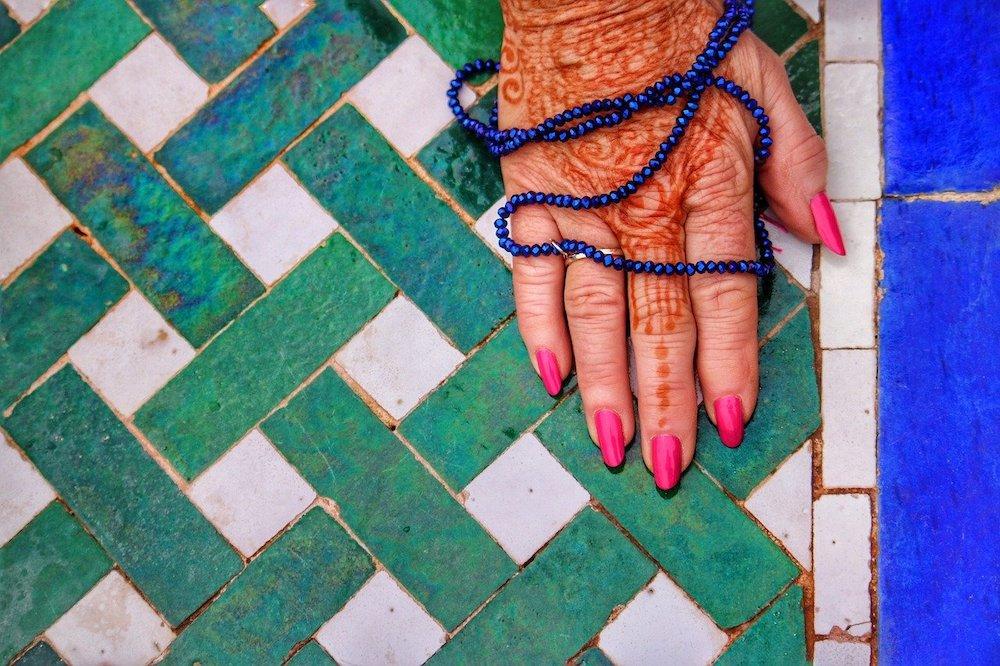 De oude dame in Marokko